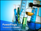 PowerPoint Template - flasks, tubes and other equipment of a research laboratory