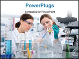 PowerPoint Template - a group of scientists working at the laboratory