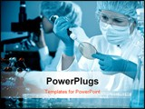 PowerPoint Template - group of scientists working at the laboratory