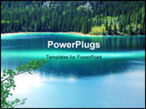 PowerPoint Template - a green jade color lake in alaska