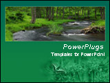 PowerPoint Template - Wild flower field in green background