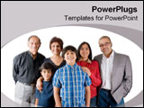 PowerPoint Template - Extended Indian family.