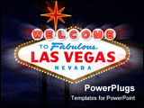 PowerPoint Template - Welcome to Las Vegas Sign Digital Illustration