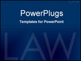 PowerPoint Template - Formal law in corporate blue