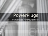 PowerPoint Template - Close-up view of justice building