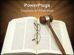 PowerPoint Template - judge