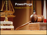 PowerPoint Template - Legal concept still life in a courtroom with American and Californian flags in the background