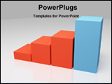 PowerPoint Template - colored bar chart showing leadership