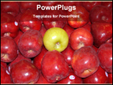PowerPoint Template - green apple among red apples