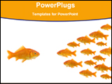 PowerPoint Template - a fish in front of a group fish