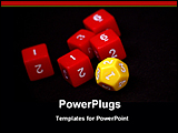PowerPoint Template - yellow dice with red dices