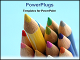 PowerPoint Template - a bunch of colored pencil