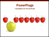 PowerPoint Template - a big green apple with other red apples