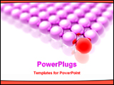 PowerPoint Template - red ball leading other purples