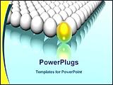 PowerPoint Template - golden egg leading other white eggs