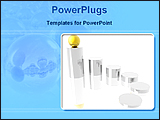 PowerPoint Template - golden ball in the top of the silver cylinder