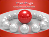 PowerPoint Template - The three dimensional spheres conceptual command Teamwork