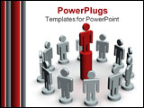 PowerPoint Template - Conceptual image of teamwork. 3D illustration image.