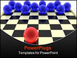 PowerPoint Template - Checkers. The maximal odds is given. One figure against all.
