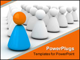 PowerPoint Template - image expressing lesdership (society for leader 3d for printing or web)