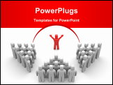 PowerPoint Template - Leader of team. Image contain clipping path