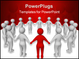 PowerPoint Template - 3D illustration: a group of people representing a team