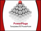 PowerPoint Template - leader ball on top pyramid (see more in portfolio)