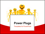 PowerPoint Template - Leadership concept. A leader with his people