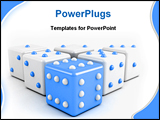 PowerPoint Template - blue dices