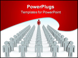 PowerPoint Template - Conceptual image of teamwork. 3D isolated image.