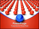 PowerPoint Template - Illustration of main blue sphere and many red spheres