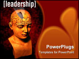 PowerPoint Template - a psychology model highlighting the leadership section of the brain