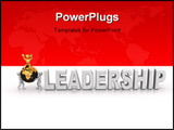 PowerPoint Template - Word leadership with men. 3d Very beautiful three-dimensional illustration.