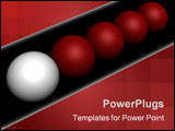PowerPoint Template - Leadership. 3D generated image isolated on black.