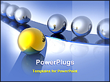 PowerPoint Template - a golden ball leading other balls