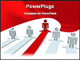 PowerPoint Template - red model leading its team