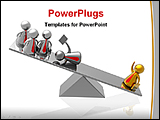 PowerPoint Template - a golden model leading his team