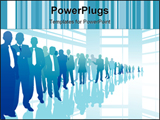 PowerPoint Template - a line of business people with few leaders
