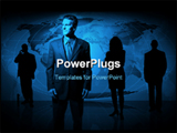 PowerPoint Template - Global business team