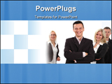 PowerPoint Template - Leader with his business team