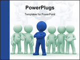 PowerPoint Template - Group of 6 persons. one is the leader.