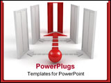 PowerPoint Template - Straight Way To Success Leadership Concept 3d