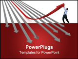 PowerPoint Template - Direction of movement. 3D image. The illustrations.