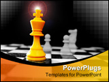 PowerPoint Template - King and other chess pieces on the board