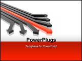 PowerPoint Template - 3D arrows red and black (high resolution 3D image)