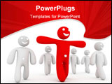 PowerPoint Template - leadership concept computer generated illustration for special disign