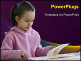 PowerPoint Template - Girl reading book
