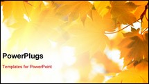 PowerPoint Template - Autumn, yellow leaves
