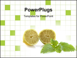 PowerPoint Template - Lemons on white background