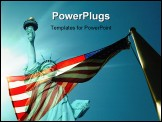 PowerPoint Template - flag with stature of liberty